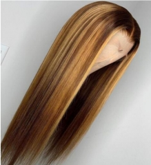 Lace Front Straight 12A Ombre Color Brazilian Remy Hair Glueless Wiccawigs Customized Wigs With Baby Hair Pre-plucked