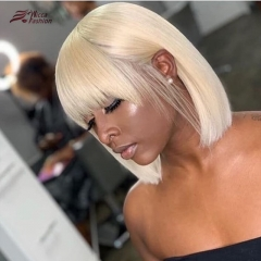 Wiccawigs Customized #613 Color Lace Front  Glueless Lace Bob Wigs With Bangs