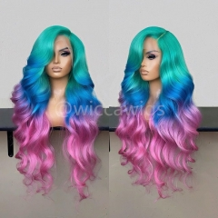 Wiccawigs Customize Colorful Brazilian Wave Glueless Lace Front Wigs With Baby Hair Pre Plucked Hairline