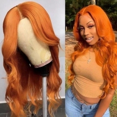 Lace Front Orange Wave Brazilian Full Lace Wiccawigs Customized Wigs With Baby Hair Pre Plucked
