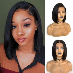 Full Lace Short Bob Hair 10A Brazilian Remy Wiccawigs Customized Wigs With Baby Hair Pre Plucked Hairline